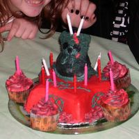 Hpim1282.jpg This cake was for my somewhat gothic neice's 15th birthday based on the Teddy Scares teddy bear named Mundy Drudge. I placed Mundy on...