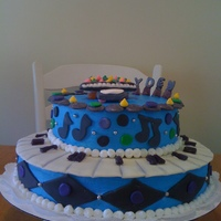 Birthday Cake This is the 2nd time for makeing a cake. It was a challenge but fun. It is all buttercream,except the piano is rkt and fondent/gumpaste. I...