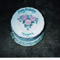 Something Different..  I did this cake for a customer she said she just needed a small bitday cake for her mom and would leave it up to me.. Thought i would try...