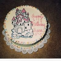 Castle Cake   castle drawn on, and filled all in butter cream..