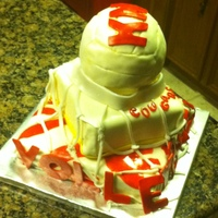 Volleyball Cake   I made this cake for some volleyball girls and I enjoyed doing it.