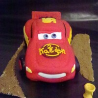 Lightning Mcqueen This is my very 1st carved cake!