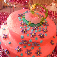 "Tinker Bell Cake I made this for my daughter's 4th bday. It was my first ""fancy"" cake..."