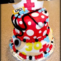 Nurse   30th Birthday cake for a Nurse !
