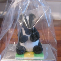 Fondant Badger Fondant 'Bertie' Badger to go with a Customer order of cupcakes for a member of St John's Ambulance here in the Uk