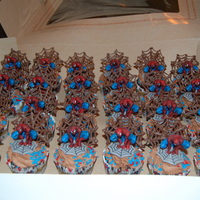 Sn Spiderman Cupcakes