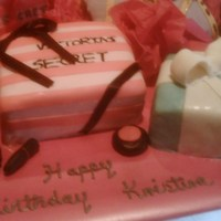 Diva Cake Cake consist of VS Gift Bag and Box. LV Purse, Tiffany Box and MAC products
