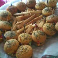 Burgers And Fries! Burger cupcakes and sugar cookie french fries