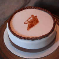 Horse Cake I did this for a friend's birthday. I enlarged a picture of her horse and cut out a stencil to help me paint on the design.