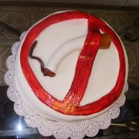 No Smoking This was one of my very first fondant cake. Made it when my hubby tried to quit smoking.