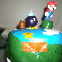 Mario Brothers Cake Had some help from my 8 year old on this one.....was alot of fun, enjoy!