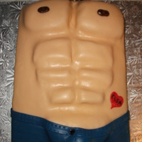 Chippendales Birthday Cake Homemade MM fondant with chocolate butter cream filling yummy!