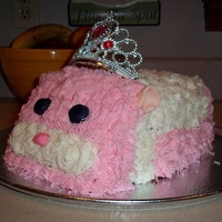 Zhu Zhu Pet Cake It came out a little box-like. I was afraid to cut away too much because once you do, you can't turn back!