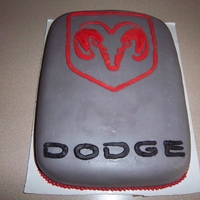 Dodge Ram Cake Carrot cake with crem cheese buttercream covered with modelling chocolate.