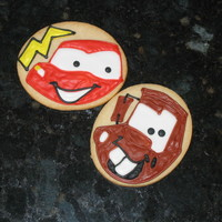 Mater And Lightning Mcqueen cookies to go with the cake