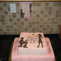 Invite In Cake Did a replica of the invite for this cake, all chocolate cake, cookies n' cream filling, vanilla BC...was a huge hit at the party!