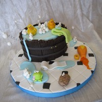 Duck Barrel Cake Class taken with Andrea Sullivan on how to make the barrel cake and characters.