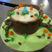 Tree Stump Cake Class This is the cake I learned this weekend with Andrea Sullivan of Andreas Sweet Cakes. She is truly an amazing teacher and if you are in the...