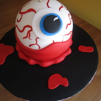 Candy Eyeball Cake