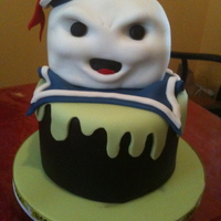 Staypuft Marshmallow Man Cake This was for one of my best friends birthday. I made the head out of rice krispy and the rest is all fondant and gumpaste detailing. Inside...