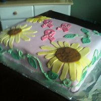 Sunflower Breast Cancer Cake   nov 2010