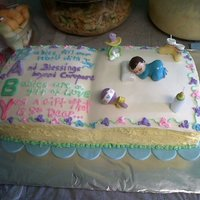 Baby Shower Boy I loved making this cake it is my first baby shower one :)