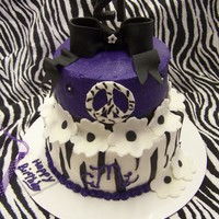21St Birthday 2 tier, BC with MMF accents