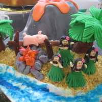 Hawaii-An Luau Fondant covered cake Vanilla Bean butter cake