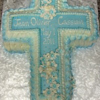 Communion Cross   All BC with fondant flowers..