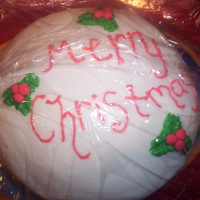 Simple Christmas Cake This is a cake i did on a short notice at my grandmothers house.It's one of my not-so-good ones because of the lack of time and...
