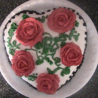 Rose Cake I did this as a birthday cake, but it works PERFECT for valentines day.It's all icing. Really fun, and it only took me 25 minutes to...