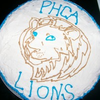 Lion Cake I did this for my sisters volleyball party.I transfered the lion from a print-out coloring page and then outlined it with blue frostingThis...