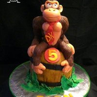 Donkey Kong Cake All edible top to bottom :)