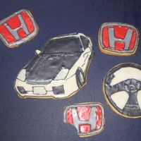 1St Time Decorating Cookies - My Bf's Honda Prelude  This was my first time decorating cookies! :D I made a bunch of cookies for my baby sisters and had some left over dough so i made some...