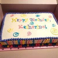 Bright Birthday   WASC with vanilla buttercream frosting. Birthday girl loves bright colors.
