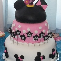 Minnie Mouse Birthday Cake I made this cake for my niece's 2nd birthday. She loved it! She was dressed like minnie mouse too, matching the cake.