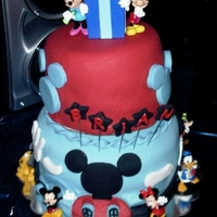 Mickey Mouse Clubhouse Cake My first time doing a Mickey Mouse Birthday Cake. It was fun!