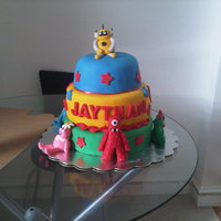 Yo Gabba Gabba Cake I created this cake for a little boy's 1st birthday. I began working on the characters almost 2 weeks in advance, since this was the...