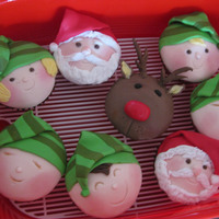 Santa's Helper From the new Planet Cake book. Made them for tafe friend in the kitchen.TFL