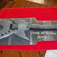 Custom Guitar Cake Custom guitar cake just like the birthday boys own guitar!