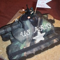 Camo Army Tank camo fondant army tank..this was my first tank for a very special young man for his 8th birthday.