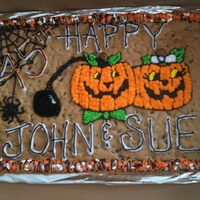 Halloween / Anniversary Cookie Cake