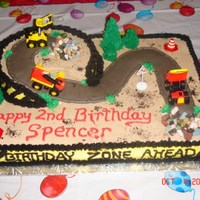 Construction Cake This was one of my first cakes. It's all buttercream with some construction trucks and accessories. It was for a friend whose son was...