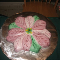 Christmas Birthday Cake   Painted fondant
