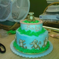 Monkeys   Monkey baby shower cake