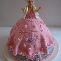 Princess, Barbie Cake   Pincess barbie cake filled with 5 layers of cream and straberry's