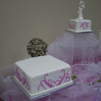 Fuschia Scrolls Wedding