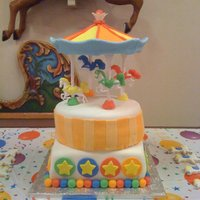 Carousel Cake This was a very time consuming cake but besides my 2nd teir being a little lopsided it turned out well for my 1st attempt I assume. I did...