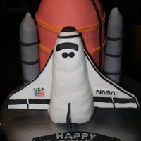 Space Shuttle Birthday Cake
