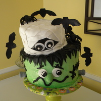 Halloween 2010 Cake! My first topsy turvy cake! Got this idea from another picture I found. So cute I had to try it!
